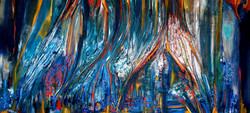 Color Forest-Acrylic & oil mix media on