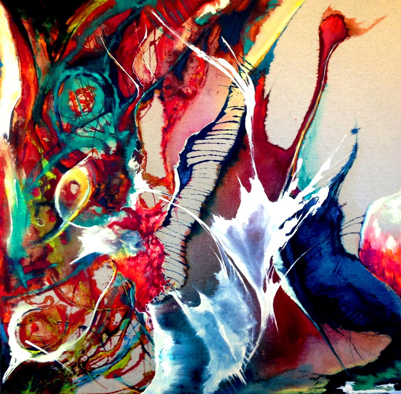 ציור מופשט, ציור מקורי מטר על מטר