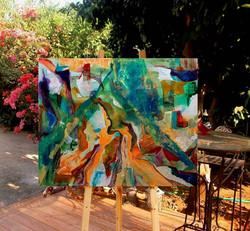 ציור אבסטרקט לבית