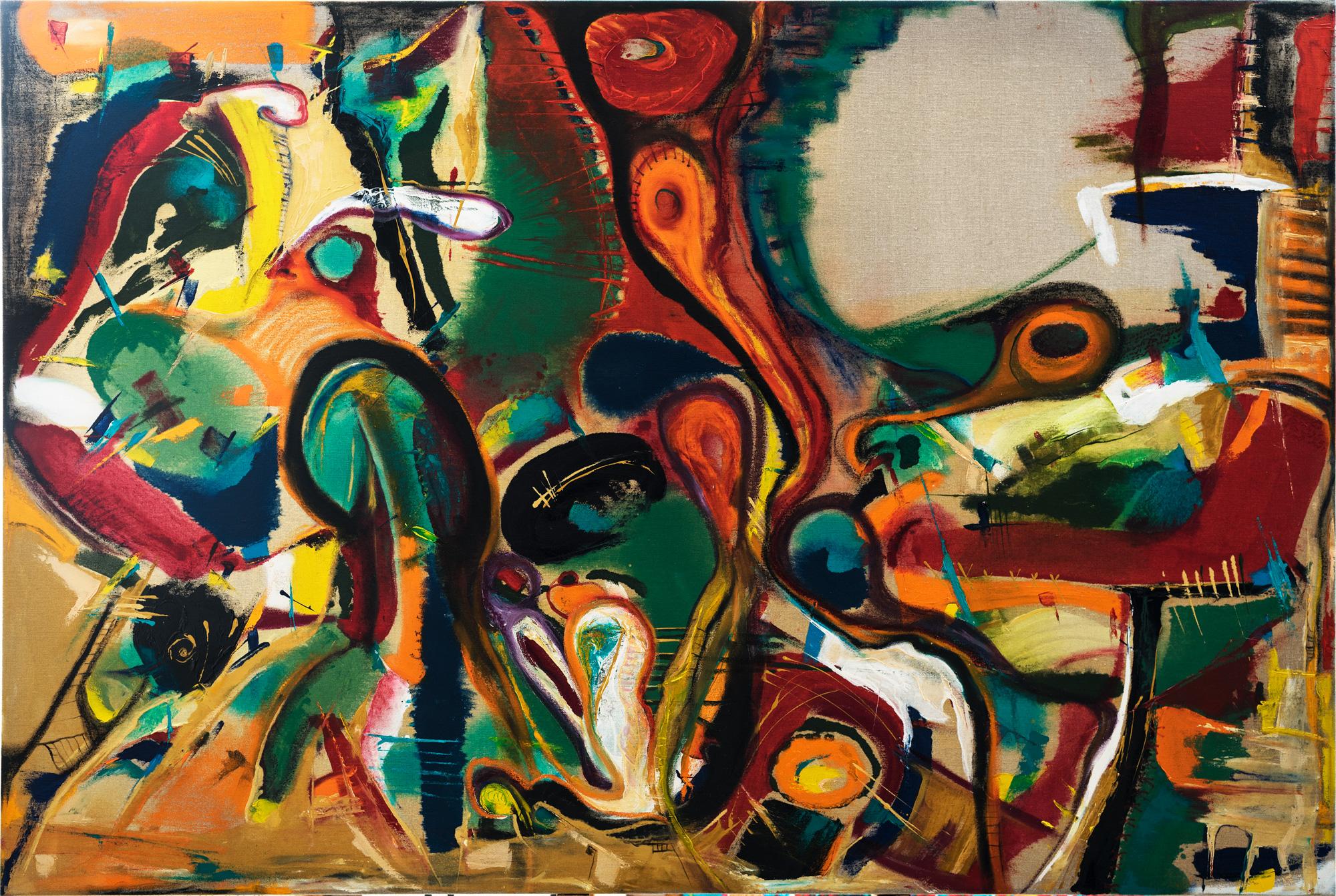 ציור מופשט אמנית דורית רוף