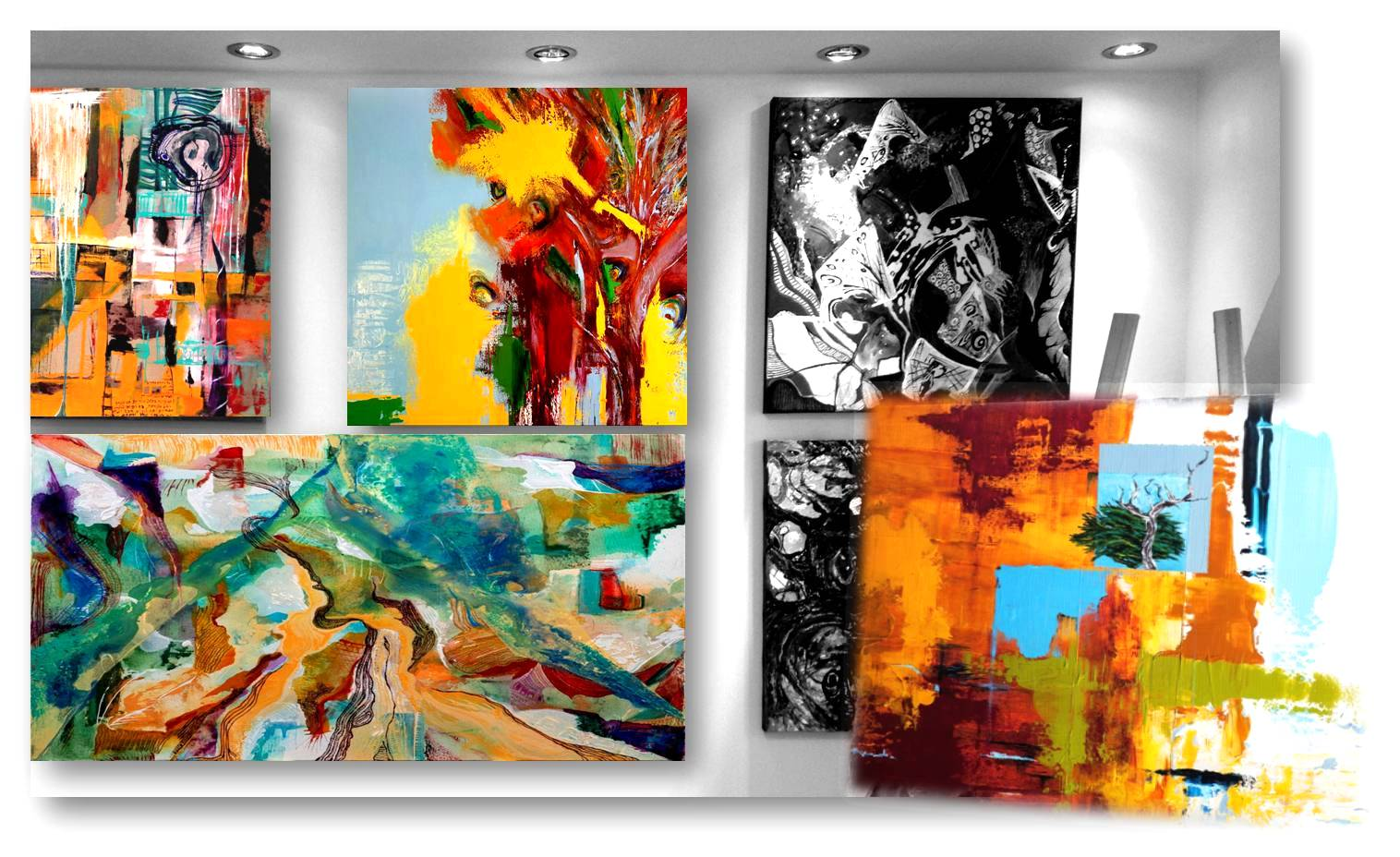 My studio art gallery
