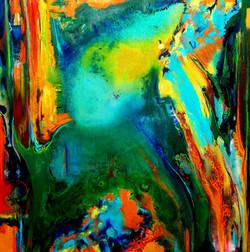 """ויהי"""" ציור מופשט, ציור אבסטרקט,  מקורי שמן על קנבס"""""""