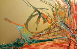 חוטים של חיים, ציור מופשט ,ציור שמן
