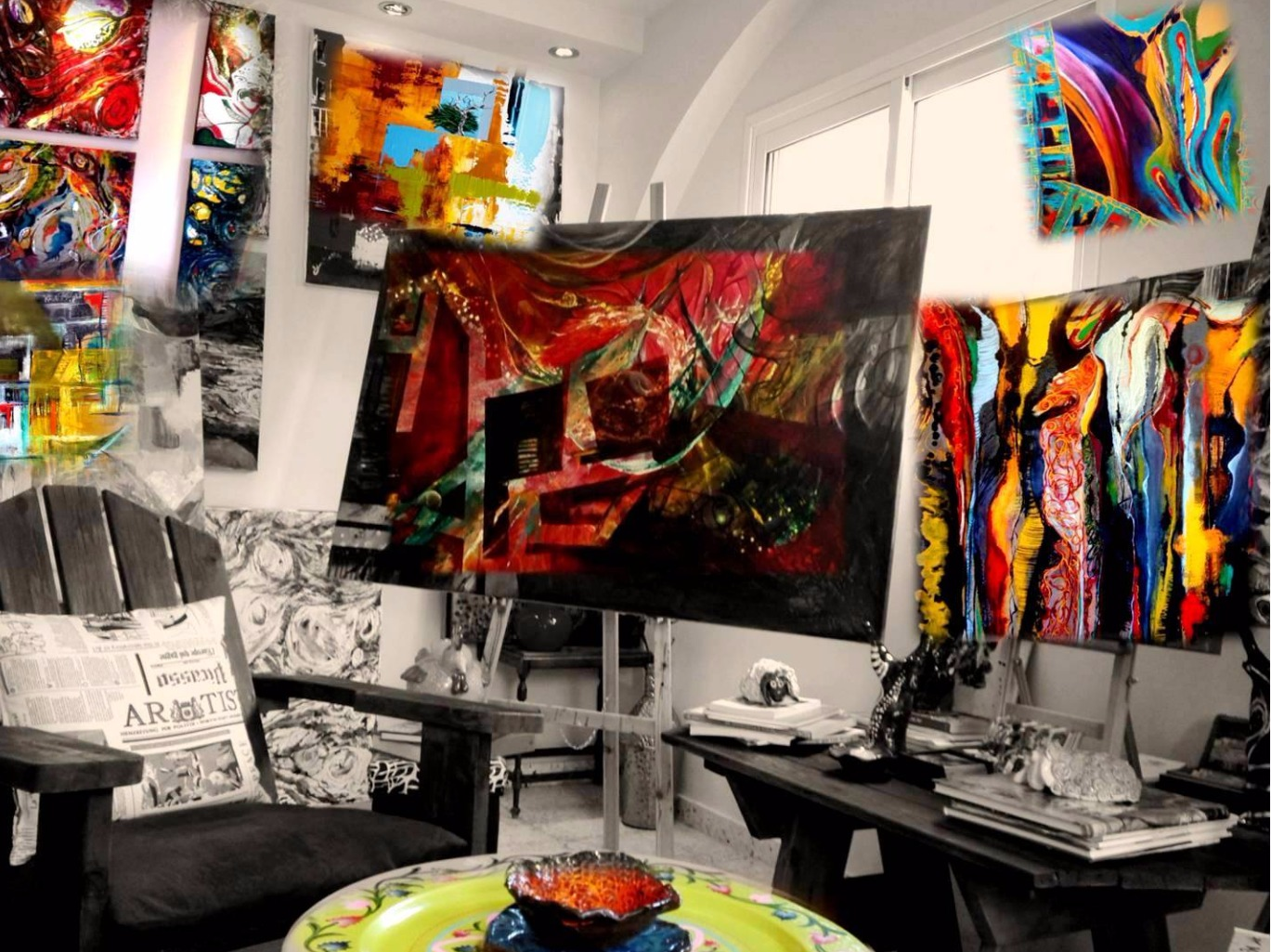 My studio art gallery