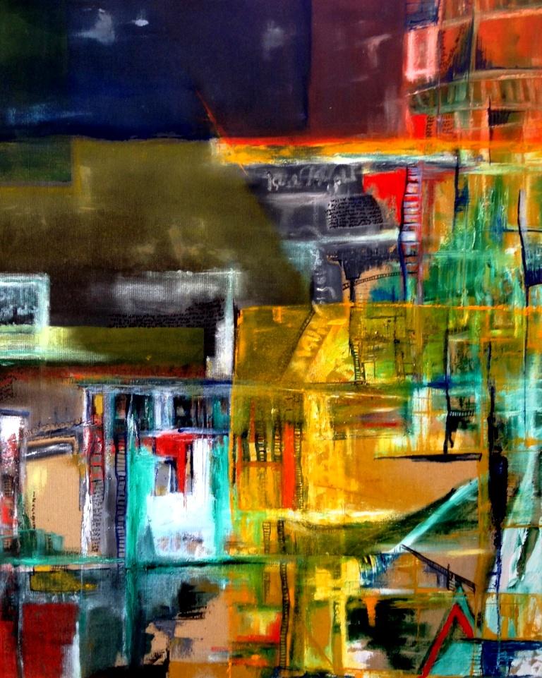 מילה על העיר ה, ציור מופשט