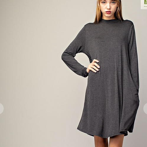 Grey bamboo dress