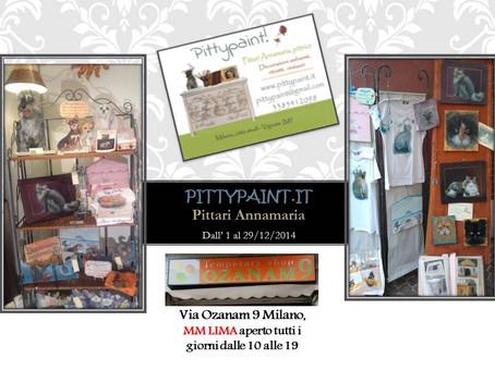 Annamaria Pittari, ovvero Pittypaint, la linea di decorazione ambienti, al Temporary shop di Via Oza