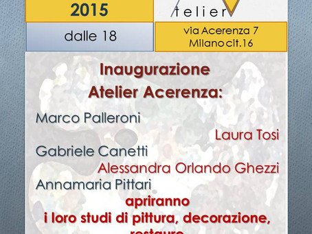 Inaugurazione Atelier Acerenza
