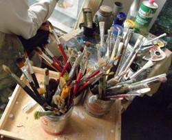 alcuni dei miei pennelli