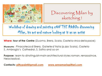 Discovering Milano by sketching! For Adults and children