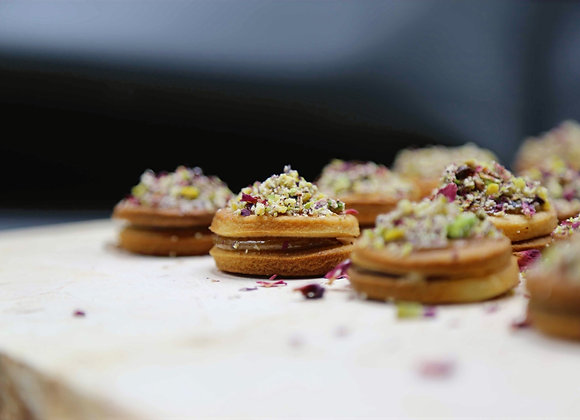 Date & Halaweh Sandwich Cookies