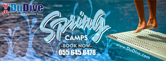 DuDive Spring Camp Banner! Learn howto get invoved wth a cool sport now!