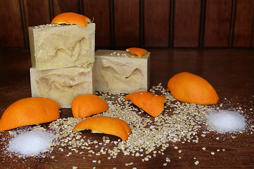 Orange Peel & Oatmeal Salt Soap