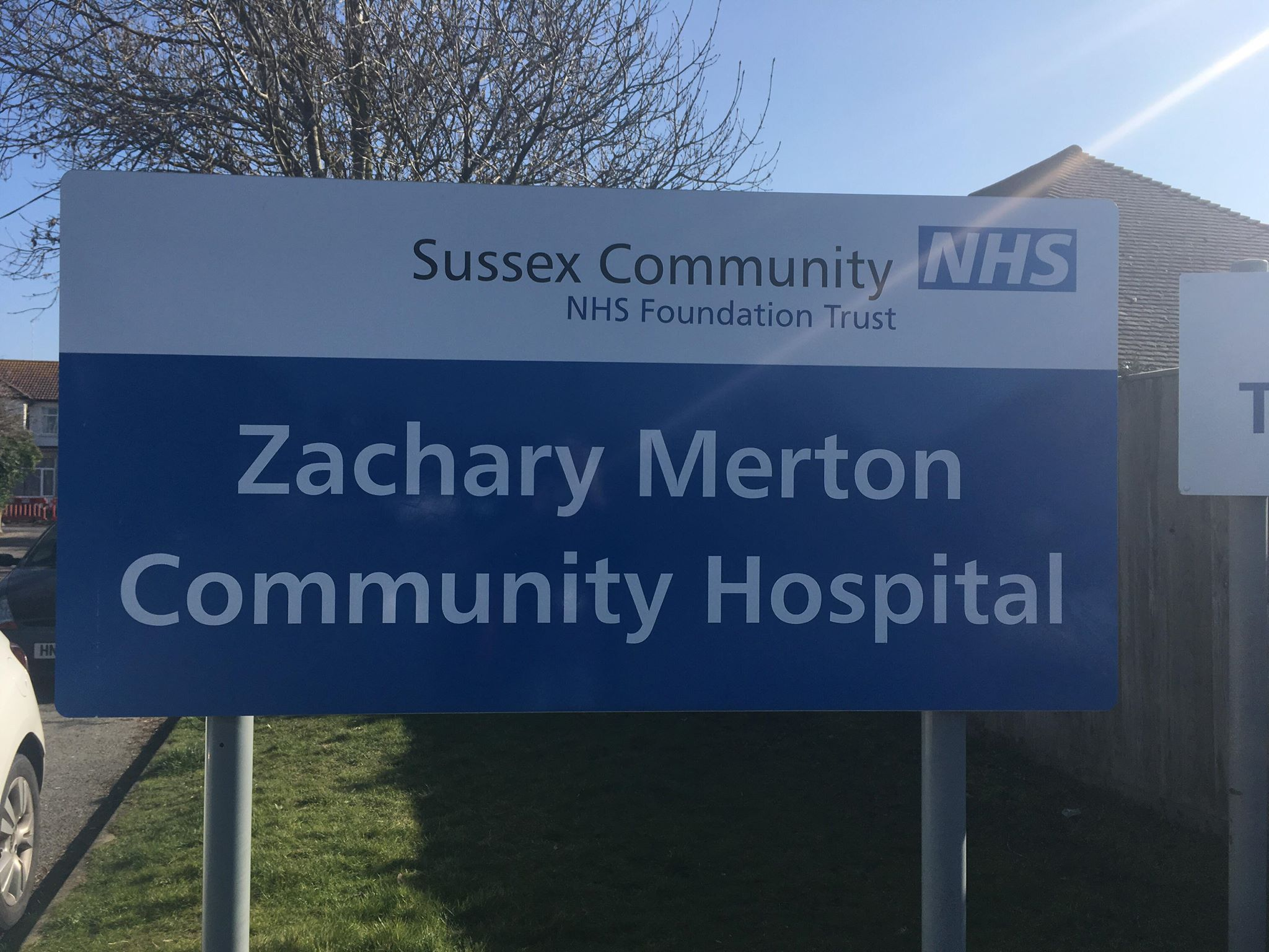 Community Hospital Rustington Sign