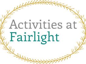 Activities Schedule for Week 20/09/2021