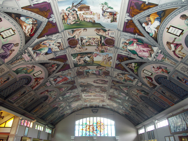 chapel ceiling painting in Goring