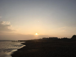 RUSTINGTON BEACH AT DUSK