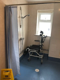 new wet room finished and ready for residents use