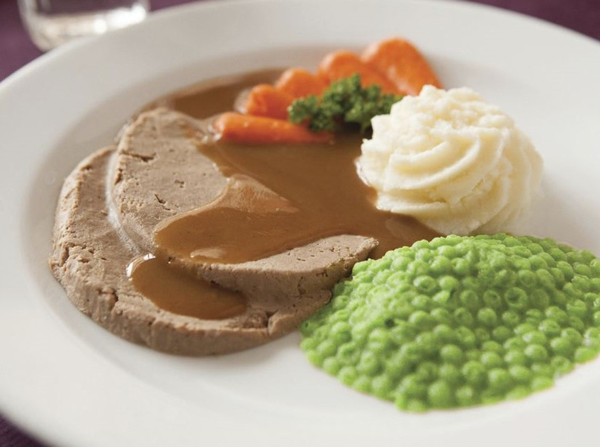 Pureed Meal Made with Food Moulds
