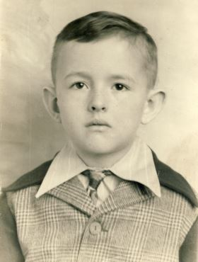 Richard Vaughn as a child