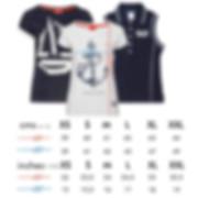 WOMEN'S  T-shirts size Sailing machine.j