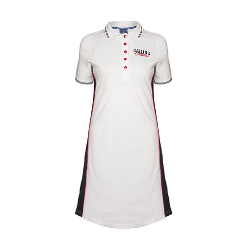 Dress Polo Bay white