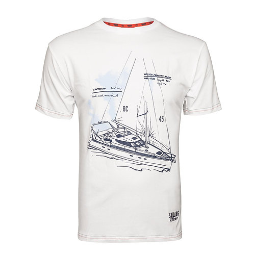 T-shirt Tacht Draft white