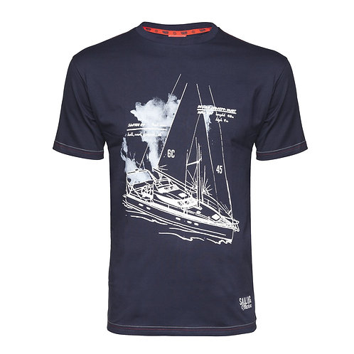 T-shirt Tacht Draft navy