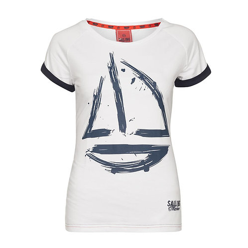 T-shirt Yacht Draft White