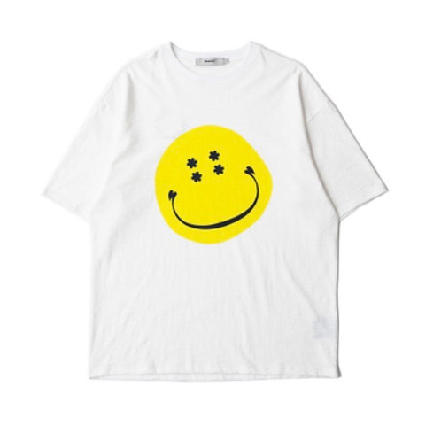 "MODITEC Slub Cotton ""BOY DON'T CRY"" Loving Smiley T-Shirt"