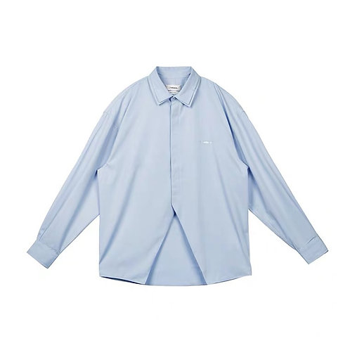 UNAWARES Double Collar Logo Shirt