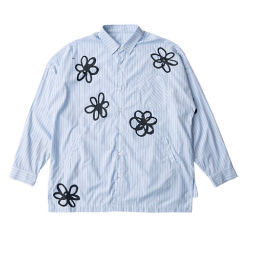 MODITEC Hand Painted Striped Shirt