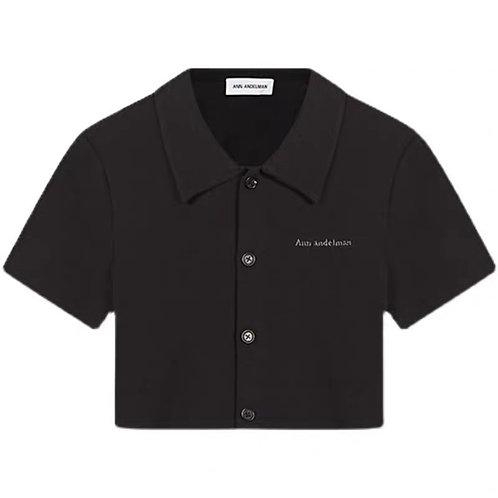 ANN ANDELMAN Logo Crop Polo T Shirt