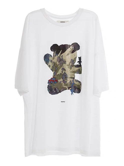 "MODITEC Dream Bear ""Akira"" Printed Short Sleeves"