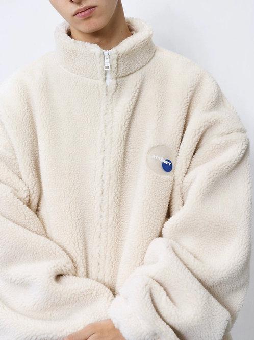 ATTEMPT Loose Drop Shoulder Lambs Wool Coat Jacket