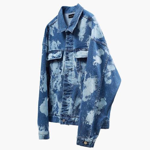 SUNDAY OFF CLUB Bleached Washed Denim Jacket
