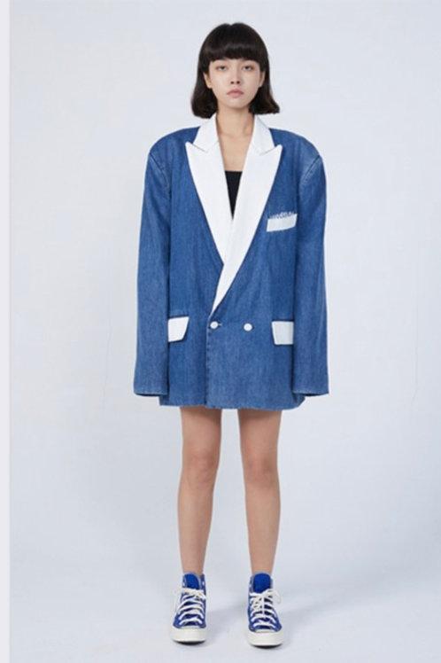 ANN ANDELMAN Denim White Jacket