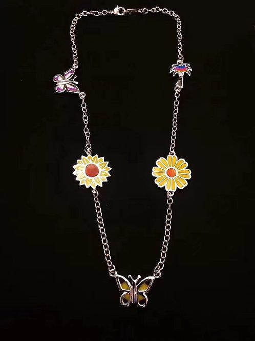 STUGAZI Butterfly Sunflower Palmtree Necklace