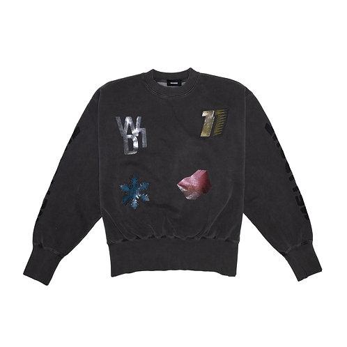 WELLDONE  Charcoal Multi Logo Sweatshirt