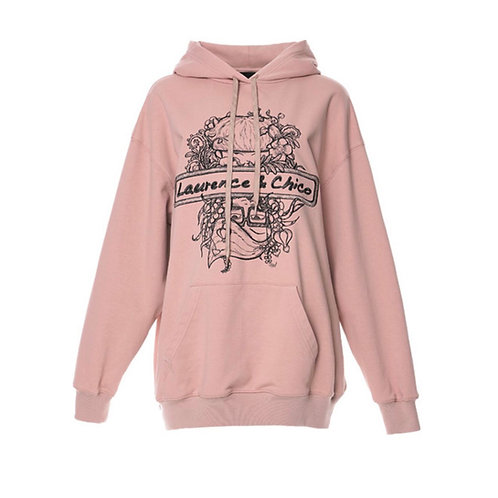 Laurence & Chico Portrait Embroidery Hoodie