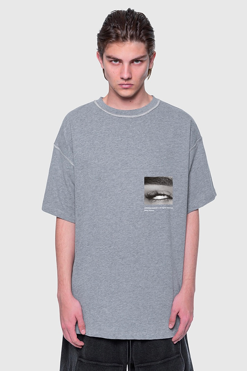 ARNODEFRANCE Inside -out T-shirt  Grey Print