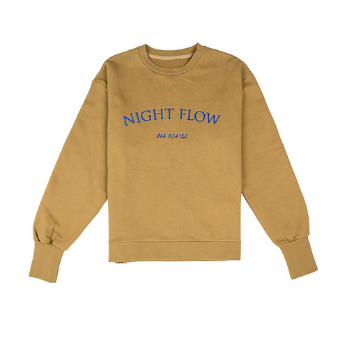 NIGHT FLOW Logo Sweatshirt