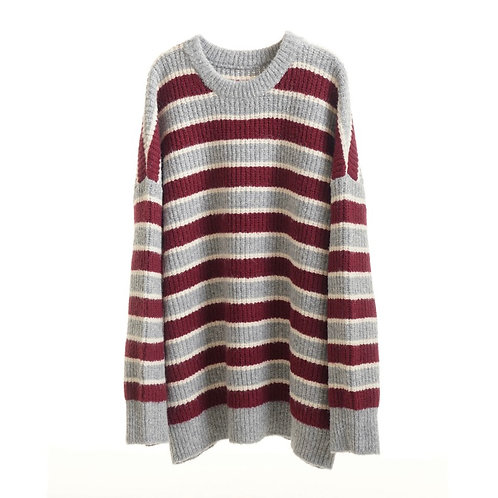 MODITEC Patchwork Chunky Knit Sweater