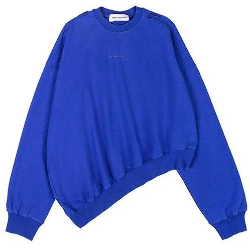 ANN ANDELMAN Asymmetry Crew Neck Sweater