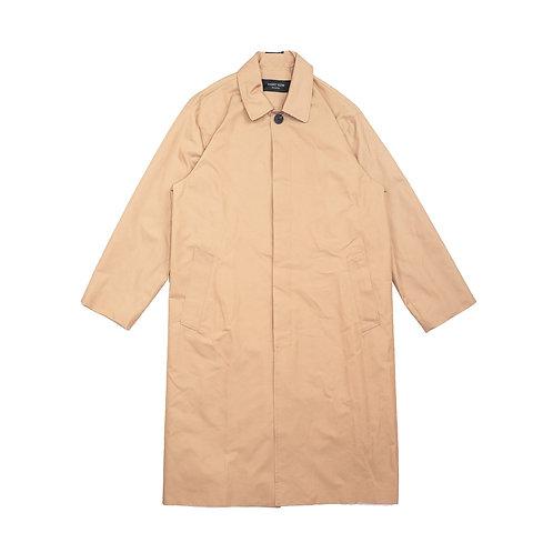 NIGHT FLOW Hidden Button Balmaccan Trench Coat