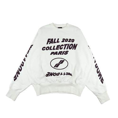 WE11DONE long sleeve graphic print sweater