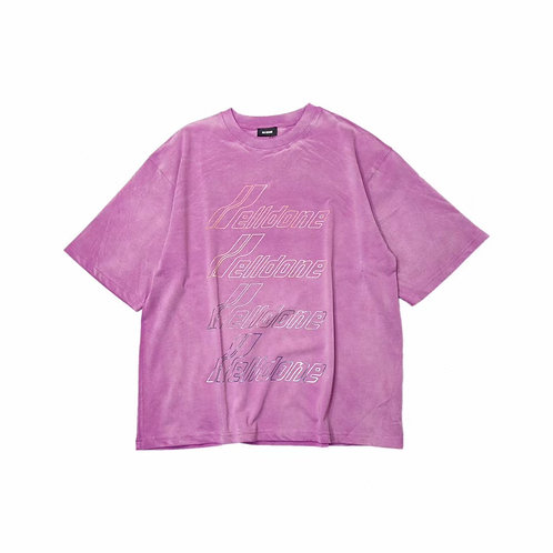 WE11DONE Iridescent Logo T Shirt