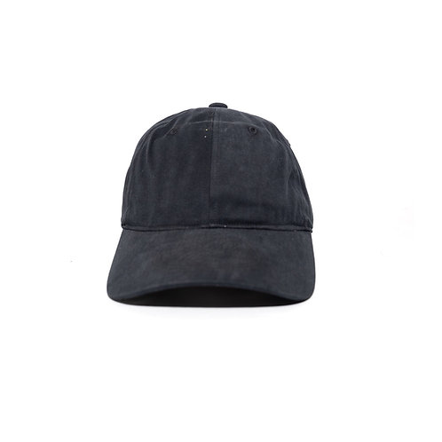 WELLDONE Black Cotton Embossed Logo Cap