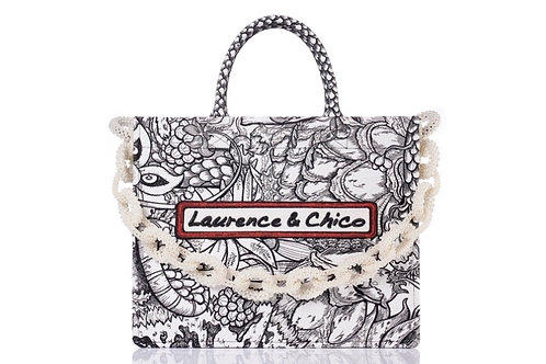 LAURENCE AND CHICO Van Dusen Garden Embroidery Tote -Large