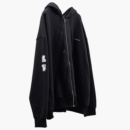 SUNDAY OFF CLUB Signature Patch Details Logo Zip-up Hoodie